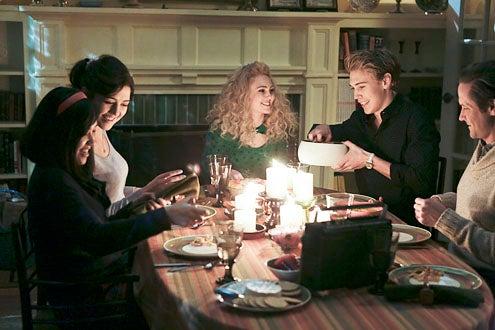 "The Carrie Diaries - Season 1 - ""Endgame"" - Ellen Wong, Katie Findlay, AnnaSophia Robb, Austin Butler and  Matt Letscher"