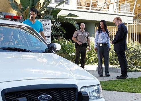 "CSI: Miami - Season 10 - ""Killer Regrets"" - Adam Rodriguez as Eric Delko, Kate del Castillo as Anita Torres and David Caruso as Horatio Caine"
