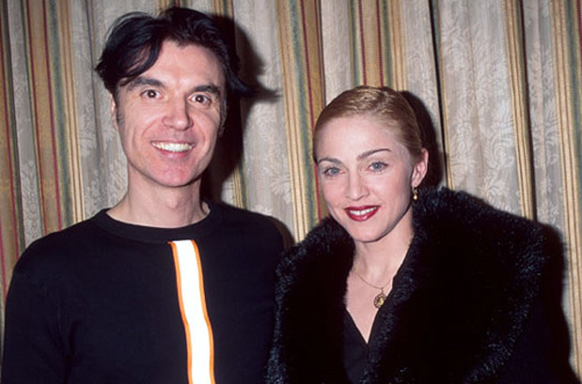 Madonna & David Byrne - The 11th Annual Rock & Roll Hall of Fame Induction Dinner in New York City, January 17, 1996