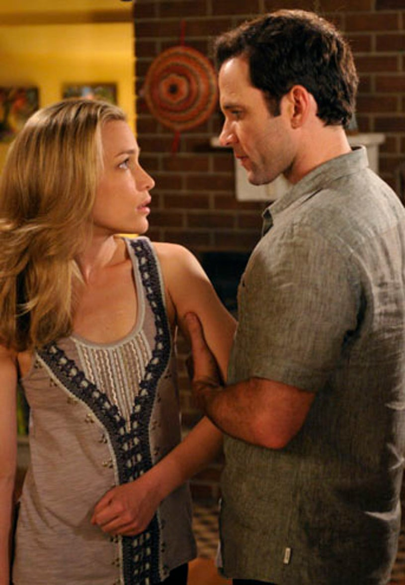 """Covert Affairs - Season 1 """"What is and What Should Never Be"""" - Piper Perabo as Annie Walker and Eion Bailey as Ben Mercer"""