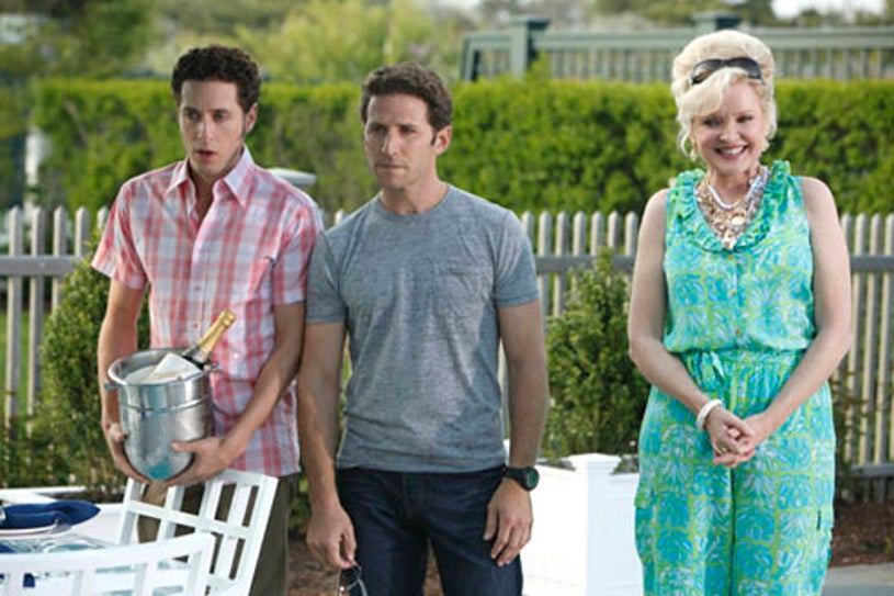 Paulo Costanzo as Evan Lawson, Mark Feuerstein as Dr. Hank Lawson and Christine Ebersole as Ms. Newberg