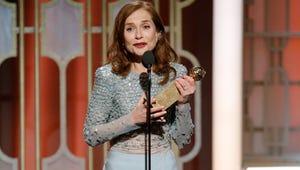 Isabelle Huppert Wins the Golden Globe for Best Drama Actress