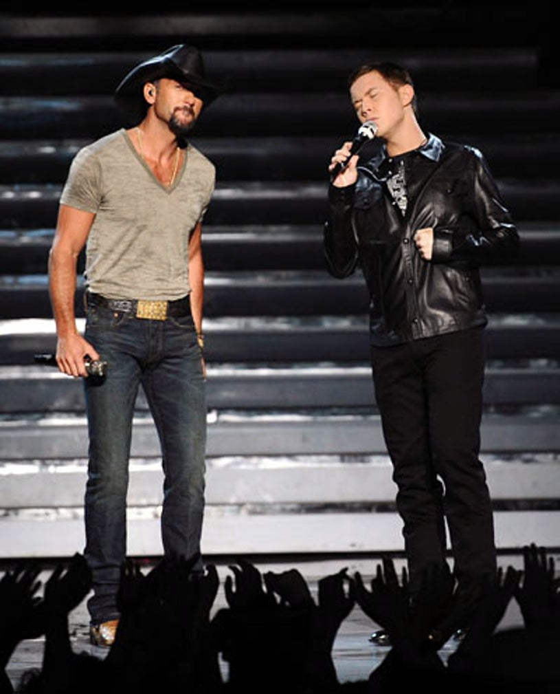 American Idol - Season 10 - Special guest Tim McGraw and Scotty McCreery