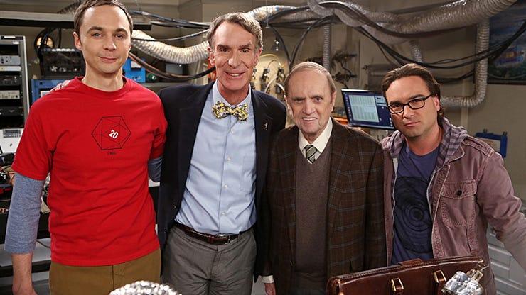 Jim Parsons, Bill Nye, Bob Newhart and Johnny Galecki, The Big Bang Theory