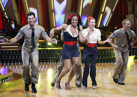 Dancing with the Stars - Season 4 - Maksim Chmerkovskiy, Laila Ali , Heather Mills, Ian Ziering