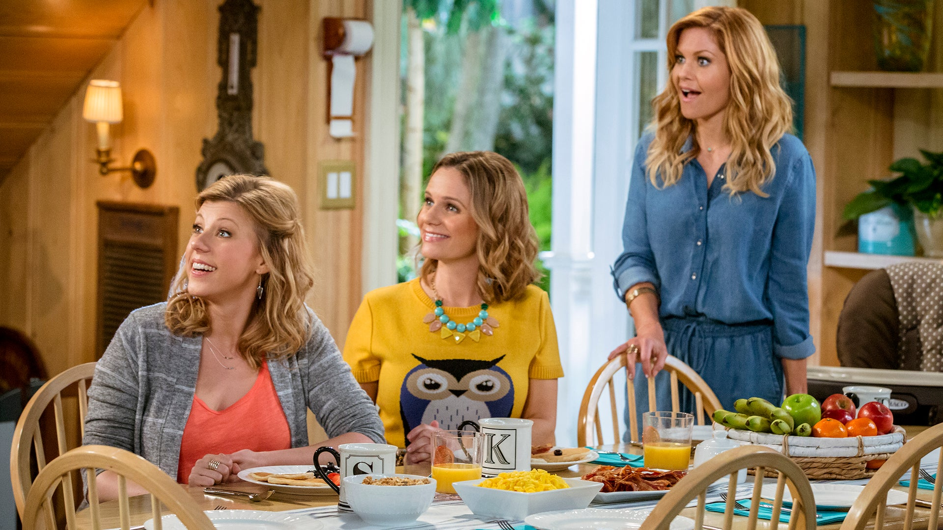 Jodie Sweetin, Andrea Barber and Candace Cameron Bure, Fuller House