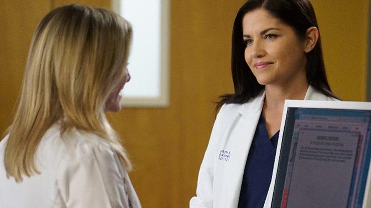 Jessica Capshaw, Marika Dominczyk, Grey's Anatomy