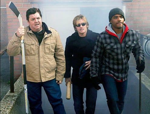 "Rescue Me - Season 6 - ""Forgiven"" - John Scurti, Denis Leary and Larenz Tate"