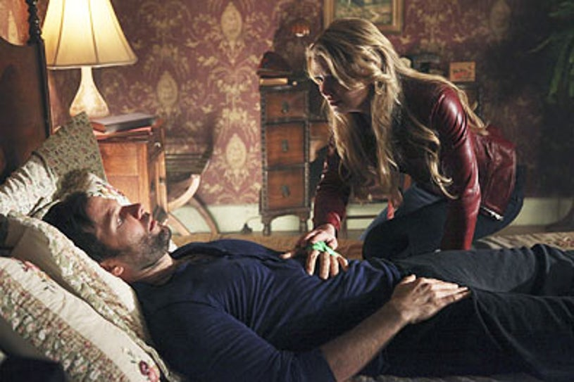 """Once Upon a Time - Season 1 - """"A Land Without Magic"""" - Eion Bailey and Jennifer Morrison"""