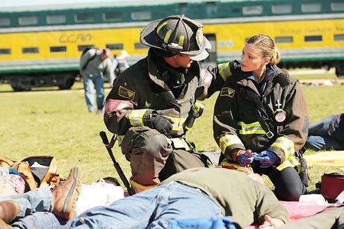 "Chicago Fire - Season 2 - ""No Regrets"" - Taylor Kinney and Lauren German"