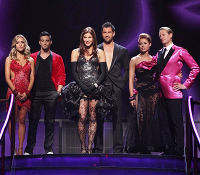Dancing With The Stars - Season 13 - Kristin Cavallari, Mark Ballas, Hope Solo, Maksim Chmerkovskiy, Anna Trebunskaya and Carson Kressley