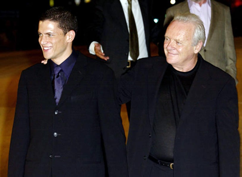 Wentworth Miller and Anthony Hopkins - Venice Film Festival, Aug 2003