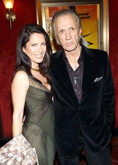 """Annie Bierman and David Carradine - """"Kill Bill: Volume 1"""" NYC premiere, Oct. 2003"""