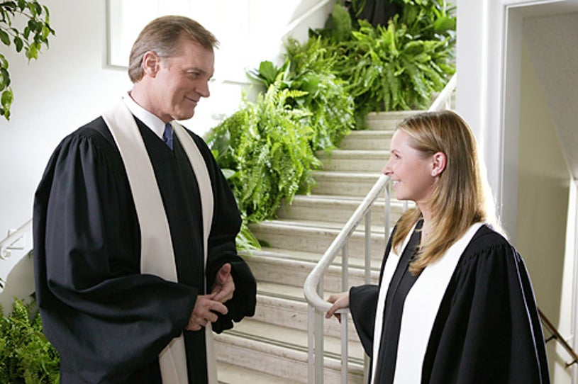 """7th Heaven - Stephen Collins as """"Rev. Eric Camden"""" and Beverley Mitchell as """"Lucy Kinkirk"""""""
