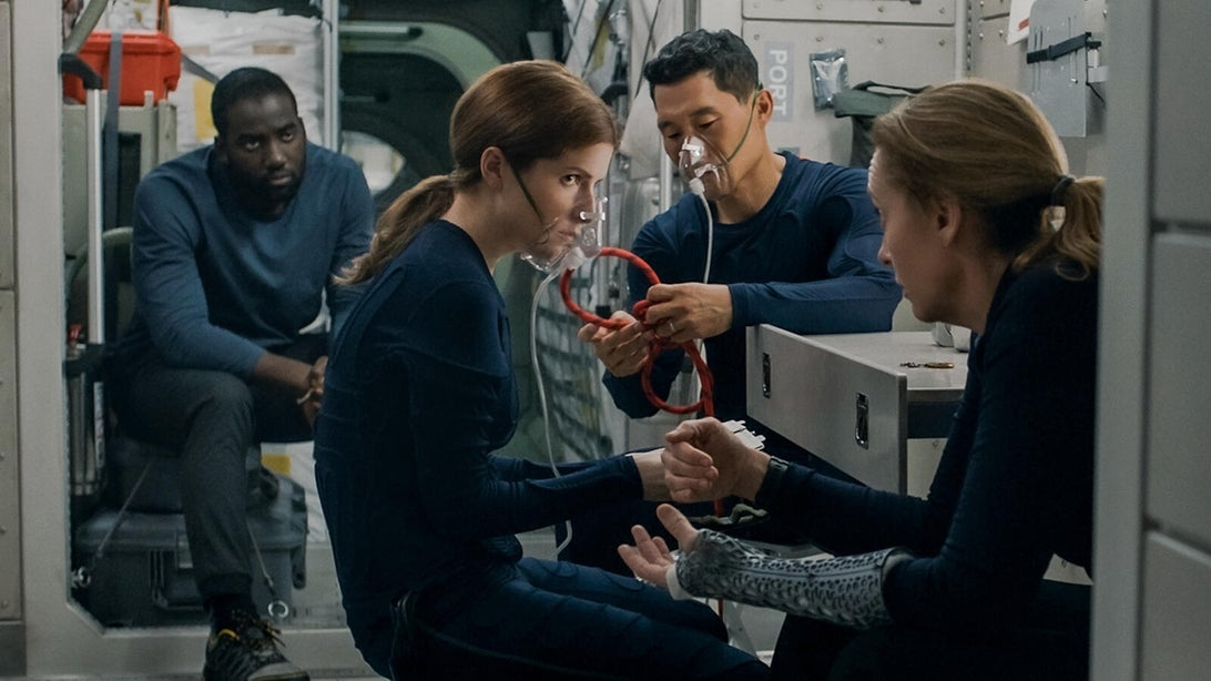 Shamier Anderson, Anna Kendrick, Daniel Dae Kim, and Toni Collette, Stowaway