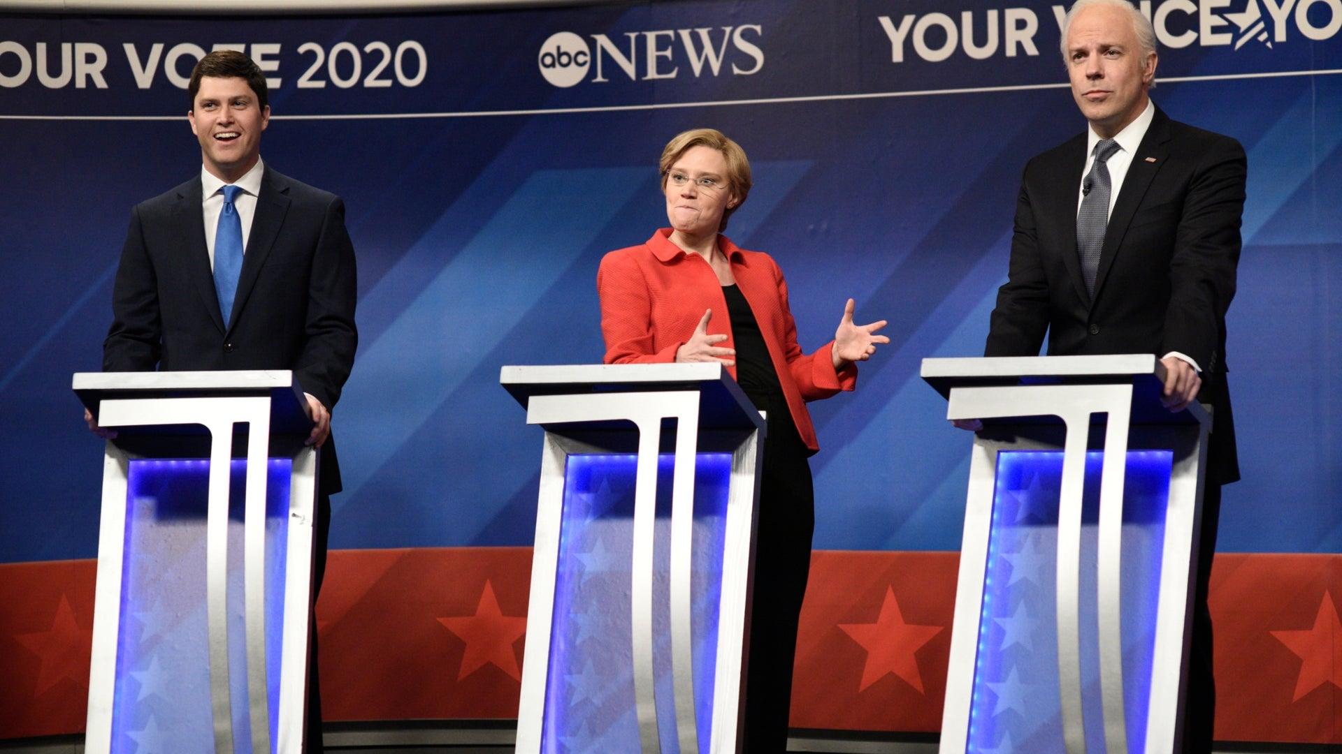 Colin Jost, Kate McKinnon, and Jason Sudeikis, Saturday Night Live