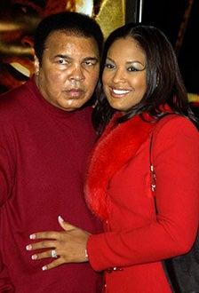 """Muhammad Ali and Laila Ali - The """"Ali"""" premiere, December 12, 2001"""