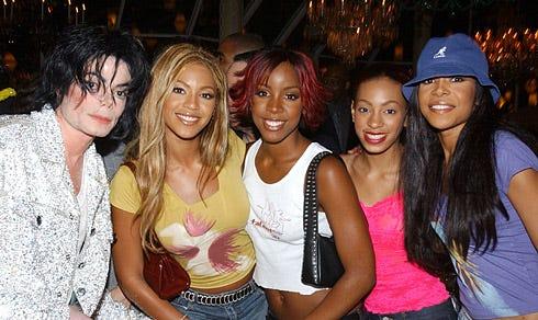 Michael Jackson and Destiny's Child - Michael Jackson's 30th Anniversary Celebration after party, New York City, September 7, 2001