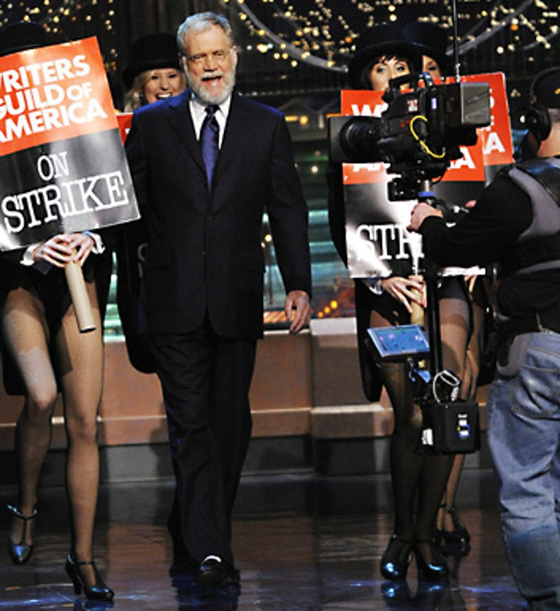 The Late Show with David Letterman - David Letterman on the first original Late Show taping since the start of the WGA strike - January 2, 2008