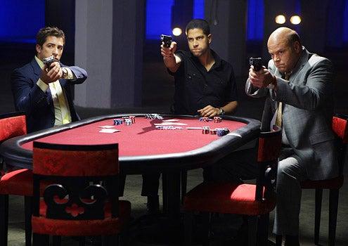 "CSI: Miami - Season 6 - ""All In""- Jonathan Logo as Ryan Wolfe, Adam Rodriguez as Eric Delko and Rex Linn as Det. Frank Tripp"