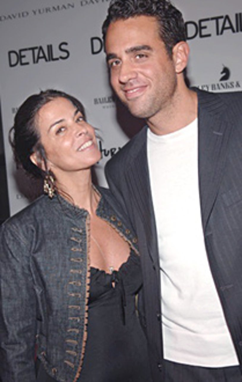 """Annabella Sciorra and Bobby Cannavale arrive at the opening night after party """"Hurly Burly."""""""