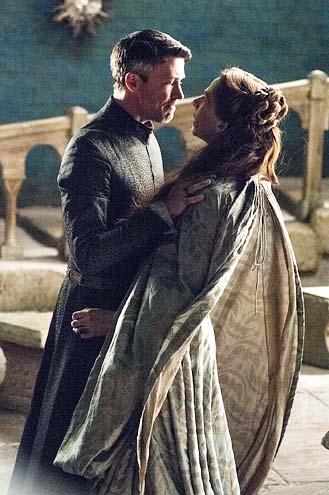 "Game of Thrones - Season 4 - ""Mockingbird"" - Aidan Gillen and Kate Dickie"
