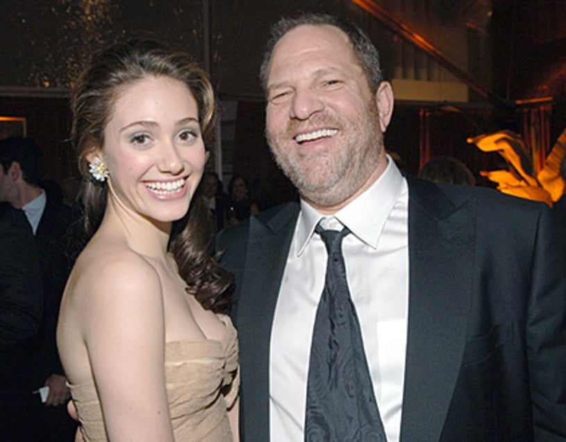 Emmy Rossum and Harvey Weinstein - The Weinstein Company & Glamour Magazine Golden Globes after party in Beverly Hills, January 16, 2006