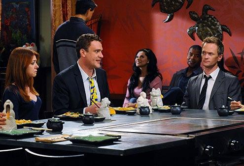 "How I Met Your Mother - Season 7 - ""The Ducky Tie"" - Jason Segel, Alyson Hannigan, Neil Patrick Harris"