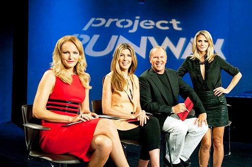 """Project Runway - Season 9 - """"What Women Want"""" - Malin Akerman, Nina Garcia, Michael Kors and Heidi Klum"""