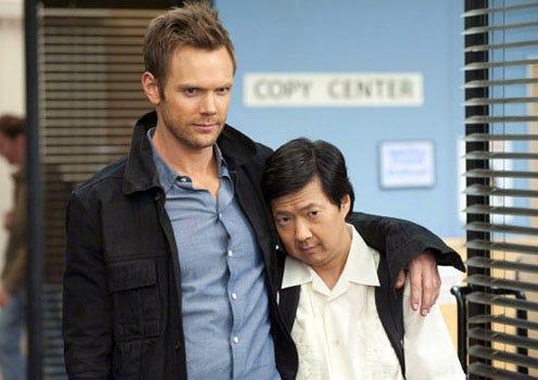 "Community - Season 2 - ""Asian Population Studies"" - Joel McHale as Jeff and Ken Jeong as Chang"