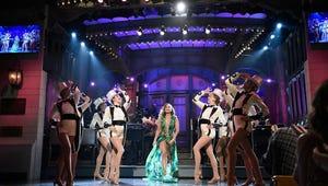Jennifer Lopez Rocks her Iconic Green Grammys Dress for Saturday Night  Live