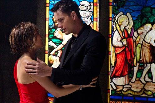 """Smallville - Season 10 - """"Masquerade"""" - Allison Mack as Chloe Sullivan and Justin Hartley as Oliver Queen"""