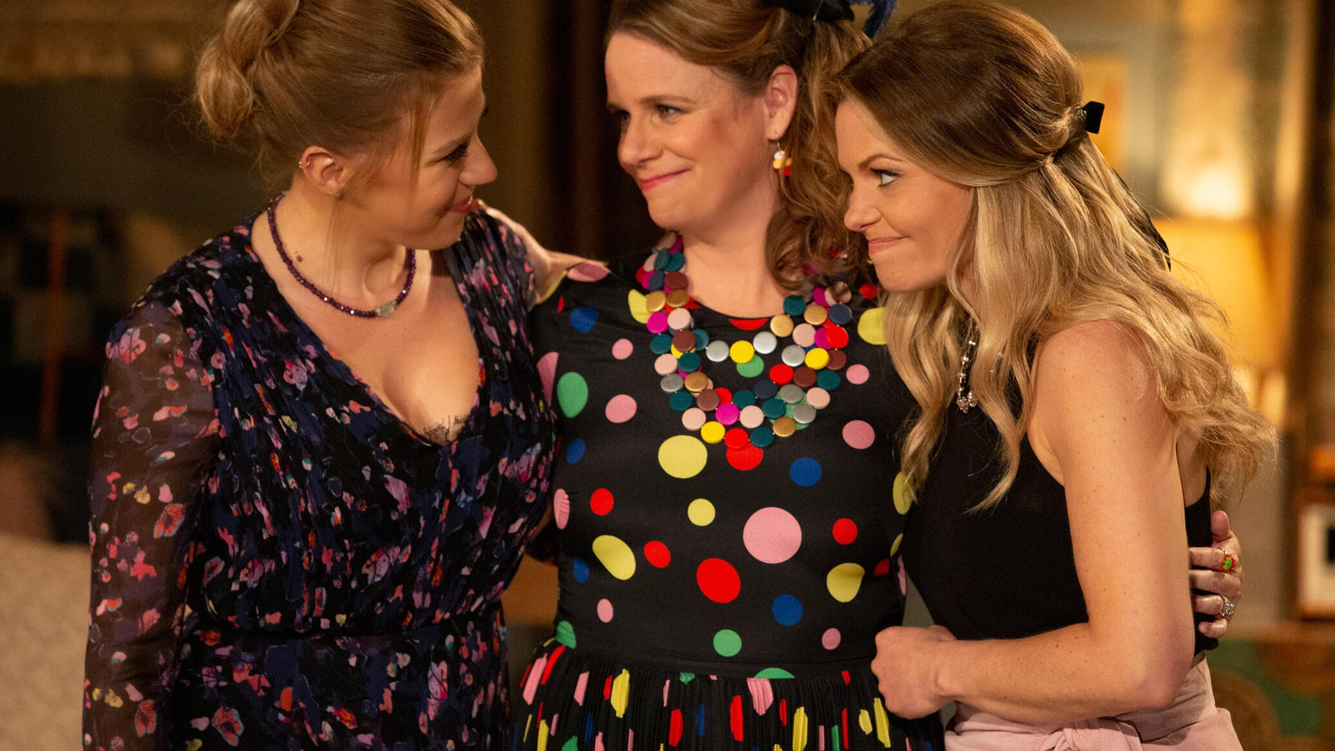 Jodie Sweetin, Andrea Barber, and Candace Cameron Bure, Fuller House