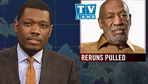 """SNL: """"Weekend Update"""" Tackles Cosby Accusations, and Cameron Diaz Raps Like a """"Baller"""""""