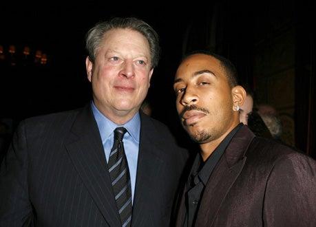 Al Gore and Chris Bridges - Pre-Oscar Party, Feb. 2007