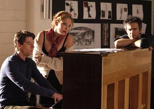 "Smash - Season 1 - ""The Movie Star"" - Christian Borle as Tom Levitt, Uma Thurman as Rebecca Duvall and Jack Davenport as Derek Wills"