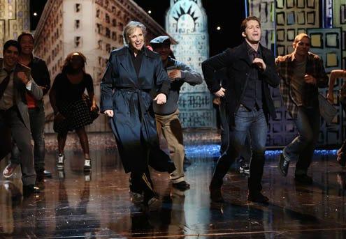 "Glee - Season 5 - ""Opening Night"" - Jane Lynch, Matthew Morrison"