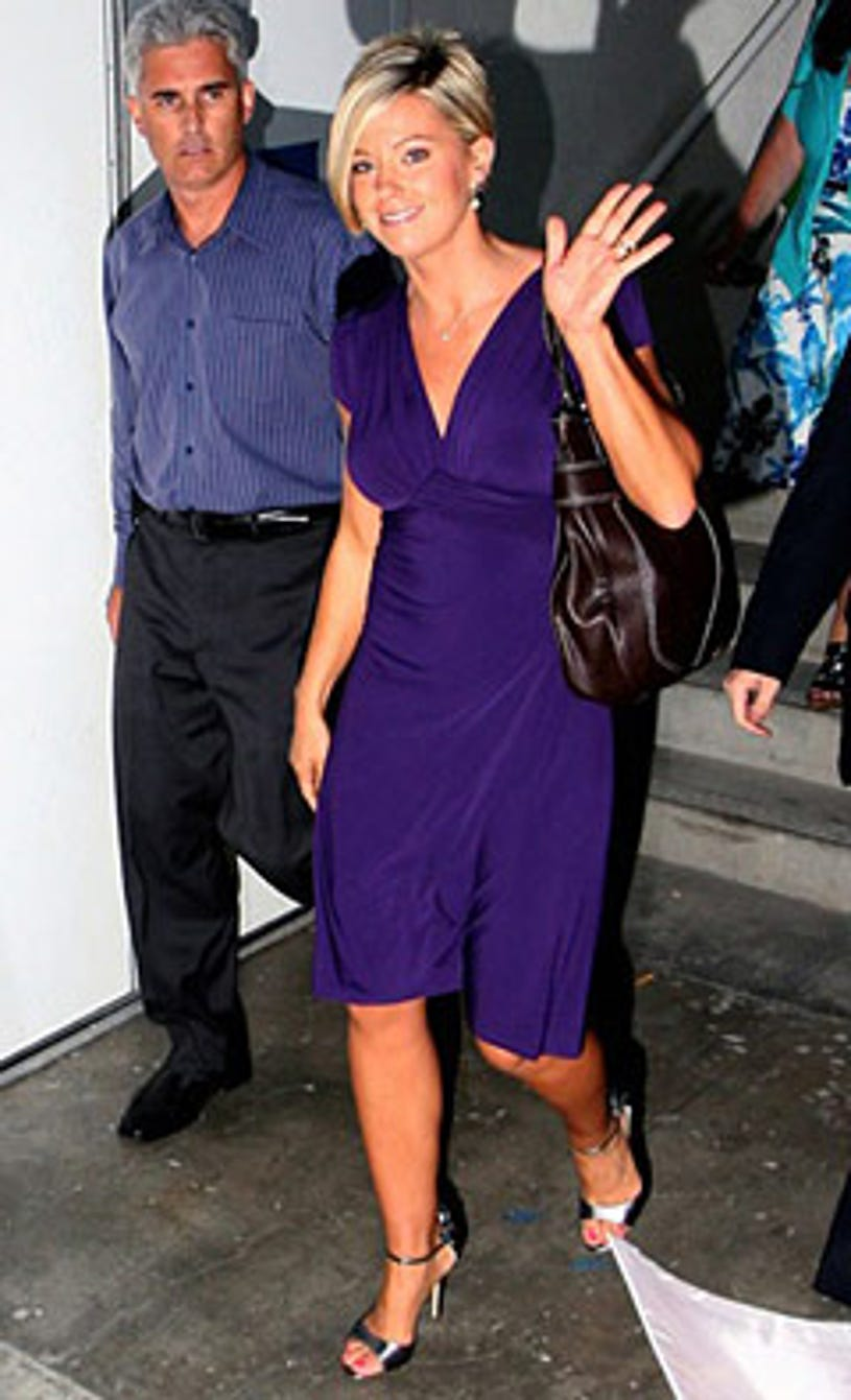 Kate Gosselin sighting at CNN news building on August 25, 2009 in Beverly Hills, California.