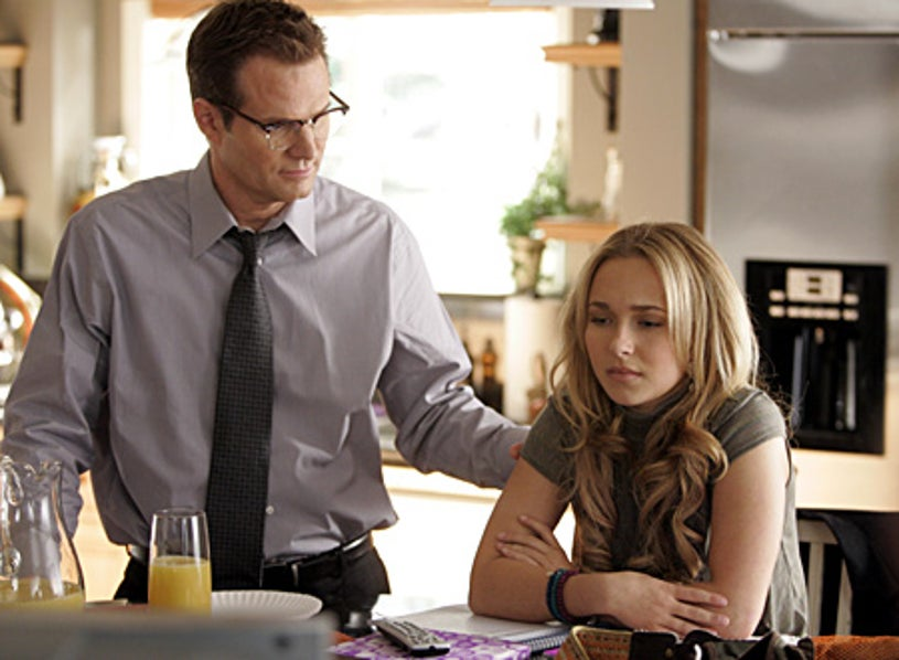 """Heros - """"Godsend"""" - Jack Coleman as H.R.G., Hayden Panettiere as Claire Bennet"""