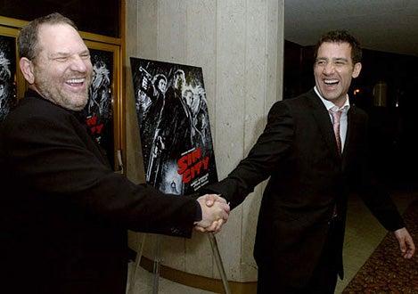 "Harvey Weinstein and Clive Owen - ""Sin City"" Los Angeles Premiere"