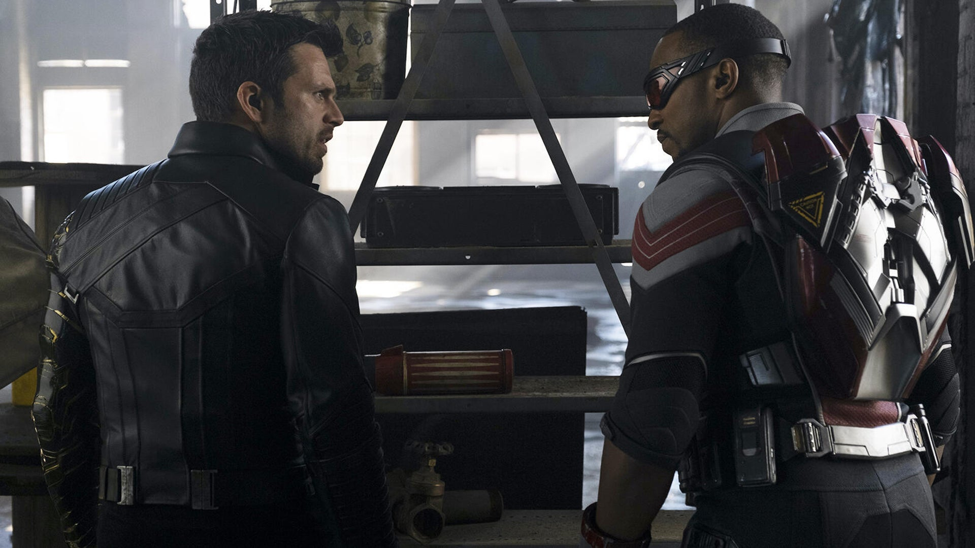Sebastian Stan and Anthony Mackie, The Falcon and the Winter Soldier