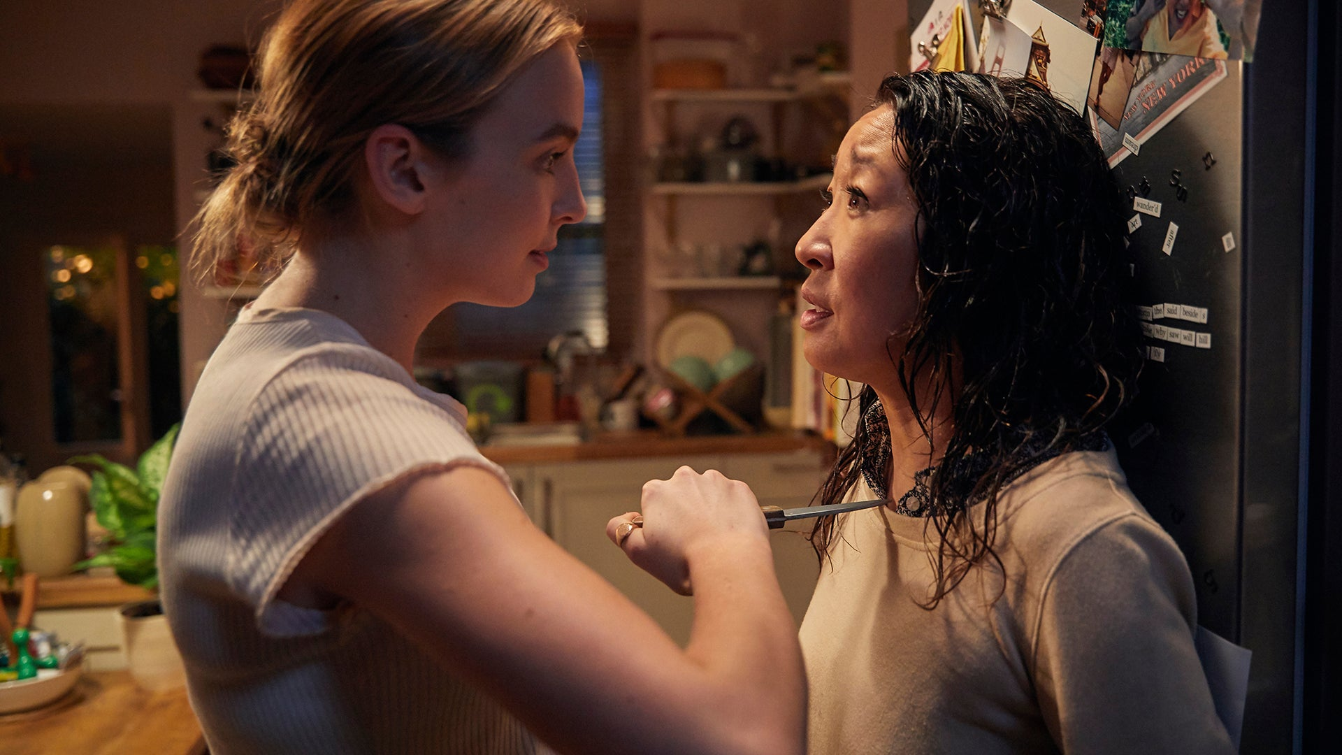 Jodie Comer and Sandra Oh, Killing Eve
