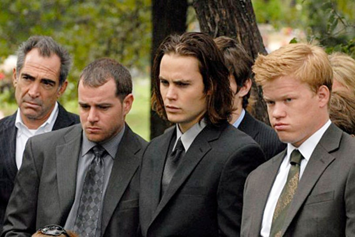 "Friday Night Lights - Season 4  - ""The Son"" - Derek Phillips as Billy Riggins, Taylor Kitsch as Tim Riggins, Jesse Plemons as Landry Clarke"