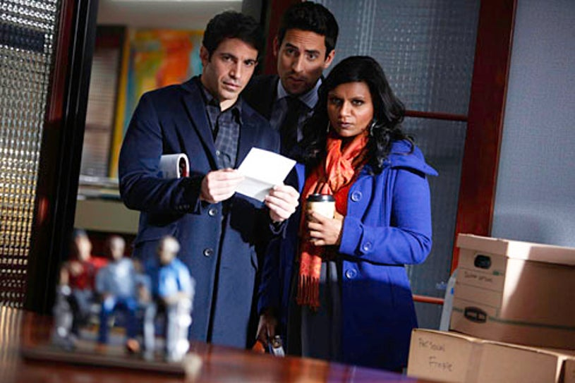"""The Mindy Project - Season 1 - """"Two to One"""" - Chris Messina, Mindy Kaling, Ed Weeks"""
