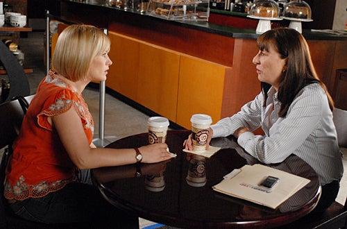 "Medium - Season 4 - ""But for the Grace of God"" - Angelica Huston as ""Cynthia Keener"", Patricia Arquette as ""Allison Dubois"""