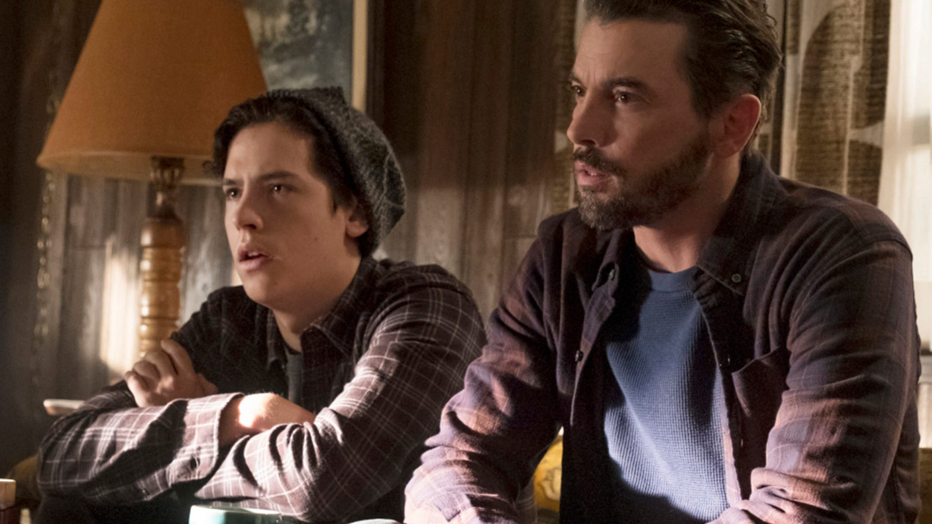 Cole Sprouse and Skeet Ulrich, Riverdale