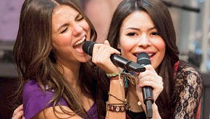 """When Carly Met Tori: The Stars of """"iParty with Victorious"""" Say Don't Expect Crossover Catfights"""