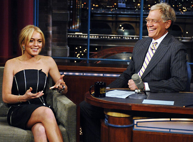 The Late Show with David Letterman - Lindsay Lohan and David Letterman - May 9, 2007