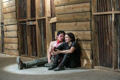 "The Walking Dead - Season 3 - ""Made to Suffer"" - Steven Yeun and Lauren Cohan"