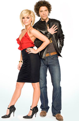 Idol Tonight 2009 - Hosts Kimberly Caldwell and Justin Guarini